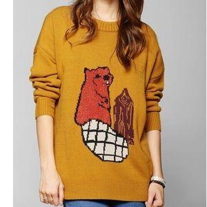 Urban Outfitters BDG yellow beaver sweater medium